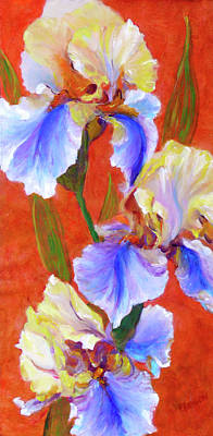Painting - Bearded Iris by Patricia Benson