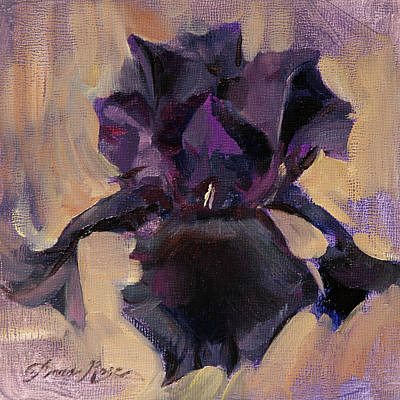 Painting - Bearded Iris Study by Anna Rose Bain