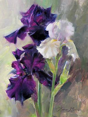 Painting - Bearded Irises by Anna Rose Bain