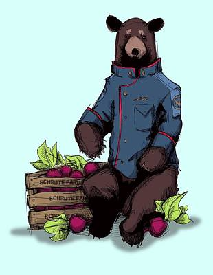 Drawing - Bears Beets Battlestar by Ludwig Van Bacon