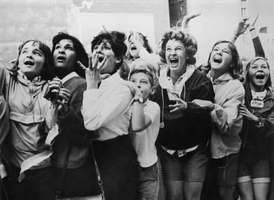 Beatles Photograph - Beatlemania by Fox Photos