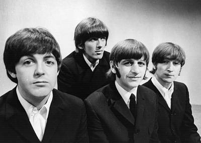 Photograph - Beatles At The Bbc by Central Press