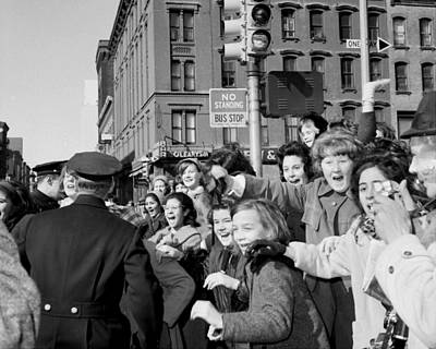 Beatles Photograph - Beatles Fans Gasp And Scream At The by New York Daily News Archive