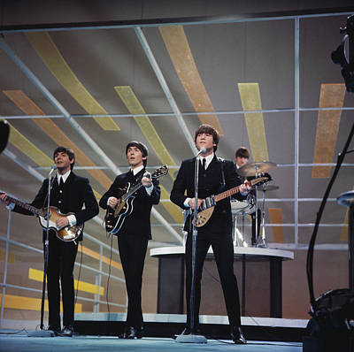 Photograph - Beatles On Us Tv by Paul Popper/popperfoto