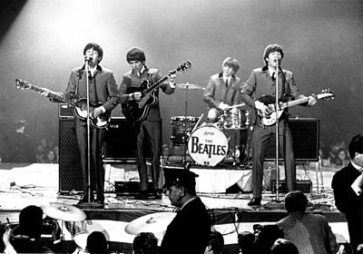 Black And White Photograph - Beatles Perform In Washington, D.c by Michael Ochs Archives