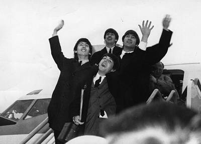 Photograph - Beatles Wave by Evening Standard