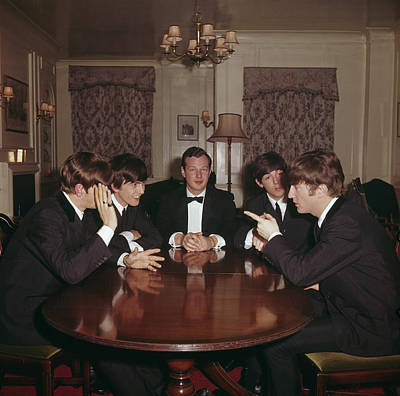 Photograph - Beatles With Epstein by Paul Popper/popperfoto