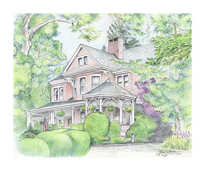 Drawings Royalty Free Images - Beaufort House Royalty-Free Image by Greg Joens