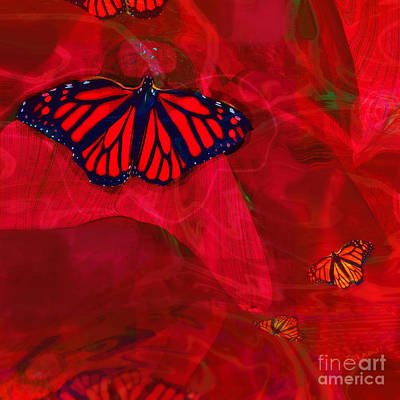 Digital Art - Beautiful And Fragile In Red by Zsanan Narrin