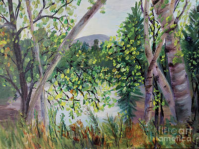 Painting - Beautiful Birches by Donna Walsh