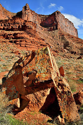 Photograph - Beautiful Boulder And Cliffs Along Highway 128 In Utah by Ray Mathis