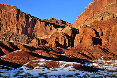 Photograph - Beautiful Capitol Reef At Sunset by Ray Mathis