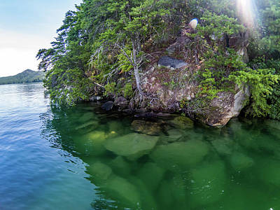 Photograph - Beautiful Clear Water  At Lake Jocassee South Carolina by Alex Grichenko