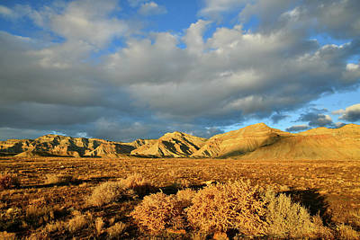 Photograph - Beautiful Clouds Above Book Cliffs At Sunset by Ray Mathis