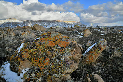 Photograph - Beautiful Clouds Over Book Cliffs In Colorado by Ray Mathis