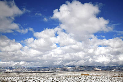 Photograph - Beautiful Clouds Over Book Cliffs Near Loma Colorado by Ray Mathis