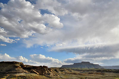 Caravaggio - Beautiful Clouds over Luna Mesa in Utah by Ray Mathis