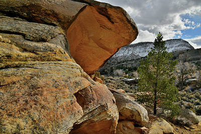 Photograph - Beautiful Colored Overhang In Colorado National Monument by Ray Mathis