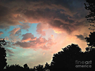 Frank J Casella Royalty-Free and Rights-Managed Images - Beautiful Colored Sky by Frank J Casella