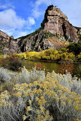 Photograph - Beautiful Colors Along Colorado River In Glenwood Canyon by Ray Mathis