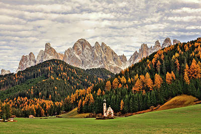 Photograph - Beautiful Dolomites Landscape In Autumn by Zodebala