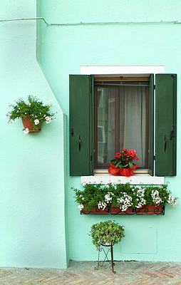 Photograph - Beautiful Flower Boxes On A Bright by Dakin Roy