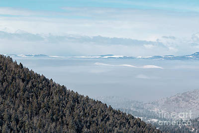 Photograph - Beautiful Foggy Sangre De Cristo Mountain Valley by Steve Krull