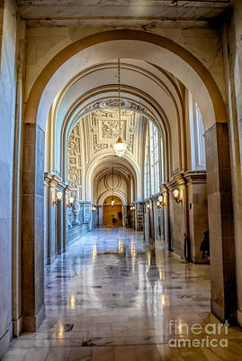 Photograph - Beautiful Interior San Francisco City Hall  by Chuck Kuhn