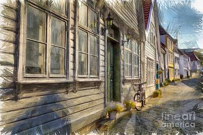 Digital Art - Beautiful Old Bergen by Eva Lechner
