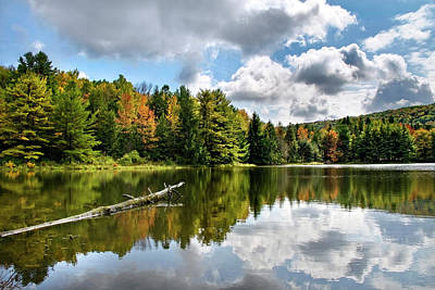 Photograph - Beautiful Lake Reflection Landscape by Christina Rollo