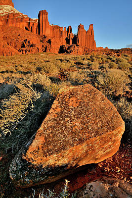 Photograph - Beautiful Sunset Light On Fisher Towers In Utah by Ray Mathis