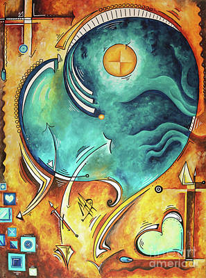 Painting - Beautiful Whimsical Heart Love Symbolic Painting Live Your Truth By Madart Megan Duncanson by Megan Duncanson