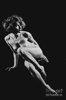 Photograph - Beautiful Woman Fineart Naked. Photograph In Black And White #9756 by William Langeveld