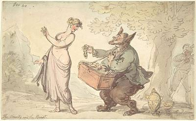 American Milestones - Beauty and the Beast  Attributed to Thomas Rowlandson British, London 1757-1827 London by Rowlandson