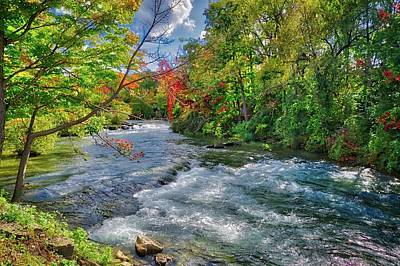 Art Print featuring the photograph Beauty Before The Falls by Lynn Bauer