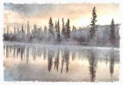Pittsburgh According To Ron Magnes - Beauty of Yellowstone lake by Ashish Agarwal