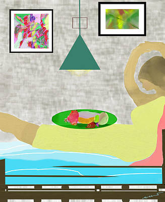 Digital Art - Bed And Breakfast by SC Heffner