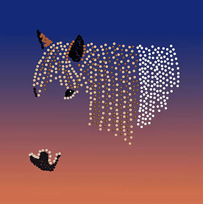 Digital Art - Bedazzled Horse's Mane by R  Allen Swezey