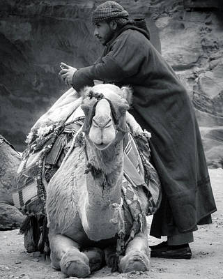 Photograph - Bedouin Man in Petra by Kevin Davis