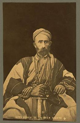 Travel Rights Managed Images - Bedouin man of the Dead Sea area c1889 by Tancrede Dumas Royalty-Free Image by Celestial Images