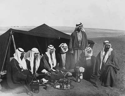 Photograph - Bedouins Have Coffee by Fox Photos