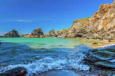 Photograph - Bedruthan Steps, Cornwall by David Ross