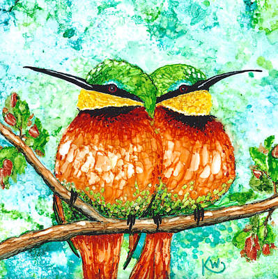 Painting - Bee-eaters by Karen Wysopal