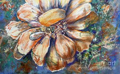 Painting - Bee In Cosmos Flower by Ryn Shell