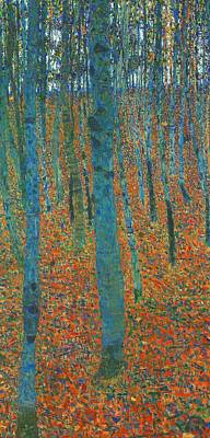 Edward Hopper - Beech Forest I by Gustav Klimt