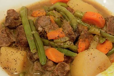 Photograph - Beef Stew Serving by Angie Tirado