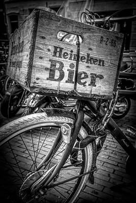 Photograph - Beer Bike In Black And White by Debra and Dave Vanderlaan