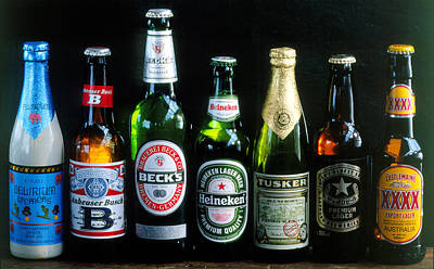 Photograph - Beer Bottles by Maximilian Stock Ltd.