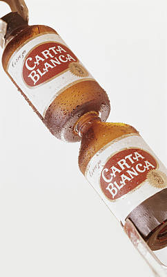 Photograph - Beer Bottles On White Background by Tom Kelley Archive