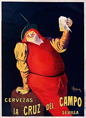 Beer Drawings Royalty Free Images - Beer cervezas la cruz del campo sevilla. By Leonetto Cappiello Royalty-Free Image by Art Makes Happy